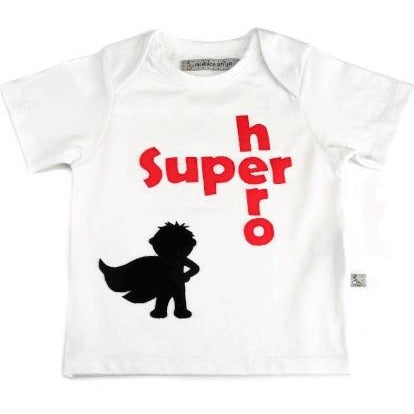 organic GOTS cotton t-shirt super hero kids