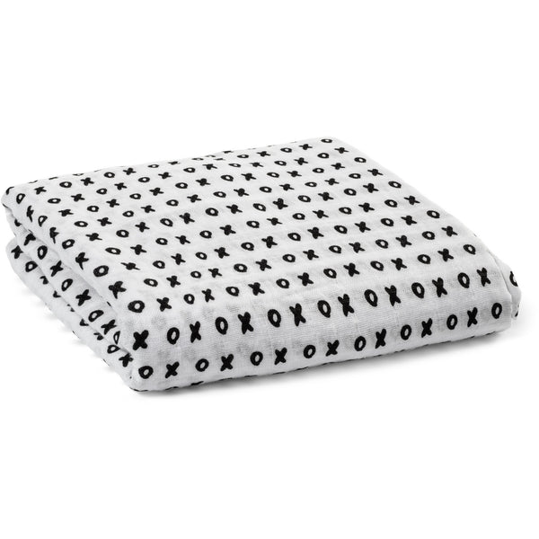 XO - Organic Cotton Muslin Swaddle  blanket - Nick & Nishka