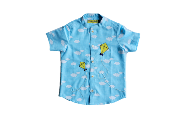 Blue Cloud Kite Shirt