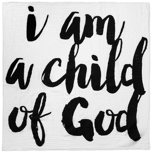 I am a child of God - Organic crib sheet - Nick & Nishka