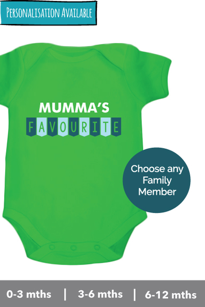 Mumma's Favourite Customized onesie - Nick & Nishka