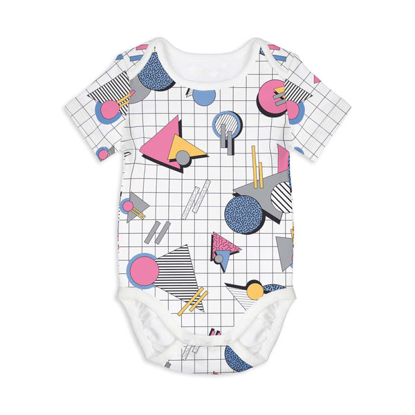 Geometric love - short sleeves onesie