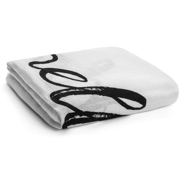 Hello World - Organic Cotton Muslin Swaddle Blanket - Nick & Nishka