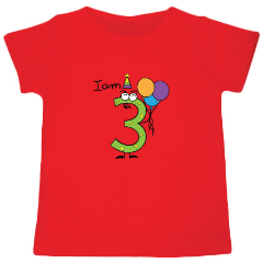 I am 3 - Customized T-shirt - Nick & Nishka