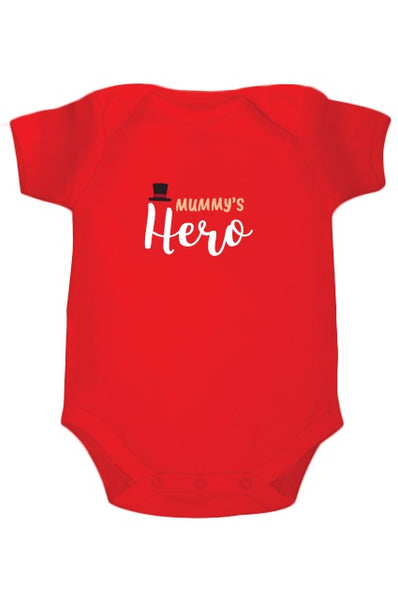 Mummy's Hero Customized onesie - Nick & Nishka
