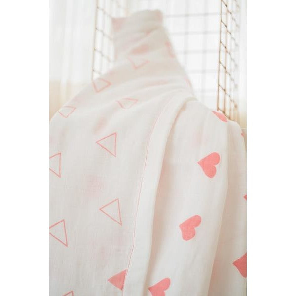 Grace Organic Cotton Blanket in Pink - Nick & Nishka