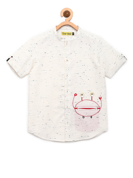 Slub Crab Shirt - Nick & Nishka