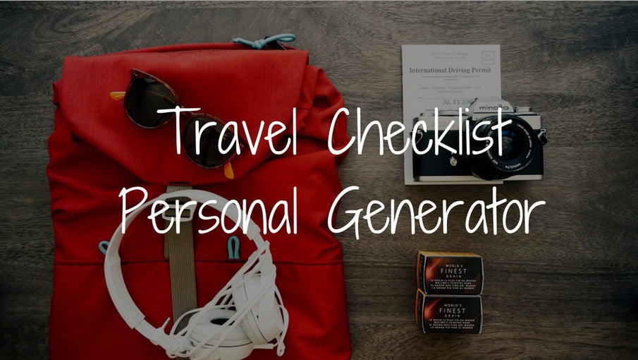 TRAVEL CHECKLIST GENERATOR