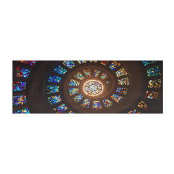 Spiral Stained Glass Design Yoga Mat