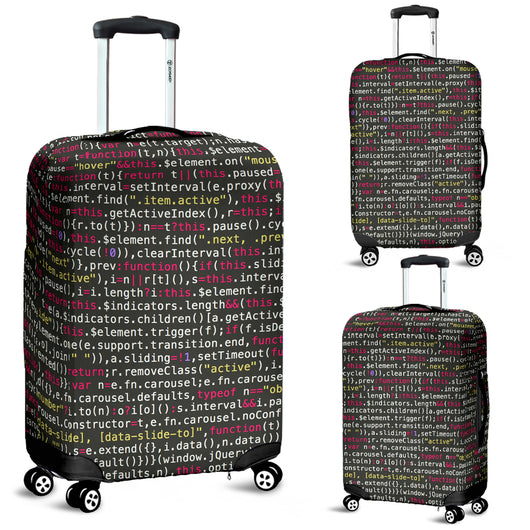 computer code luggage cover or suitcase cover