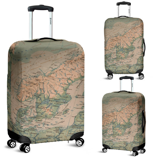 vikings homeland baltic sea map luggage cover suitcase cover