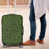 Binary Code luggage cover for coders and hacker gifts
