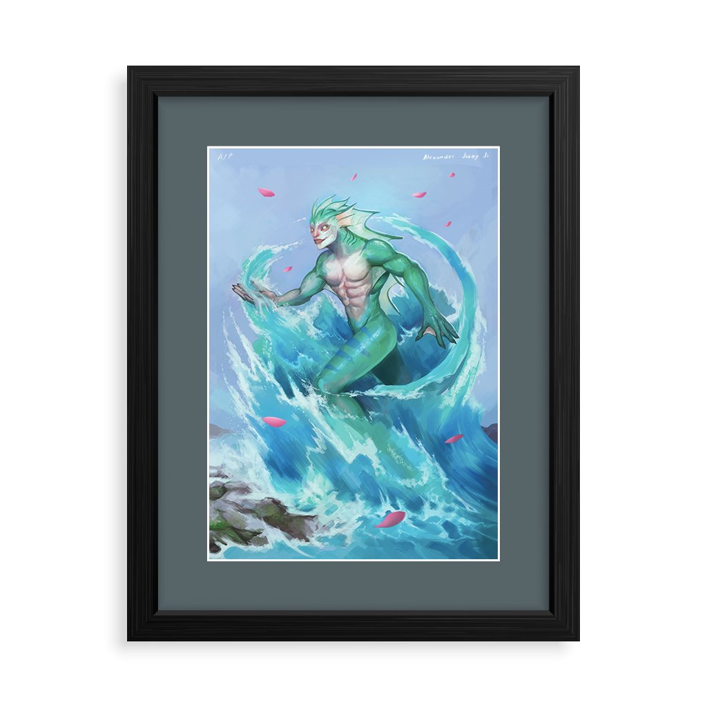 Philippine mythology mythical creature supernatural pinoy legend art fantasy myth spirit collectible mail postcrossing underwater aquatic Syokoy Bantay Tubig water element