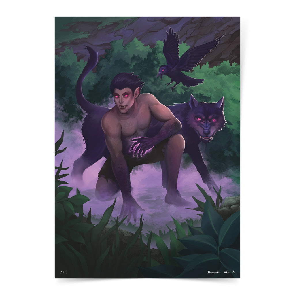 Philippine mythology mythical creature supernatural pinoy legend art fantasy myth spirit collectible mail postcrossing aswan folklore filipino dark wolf
