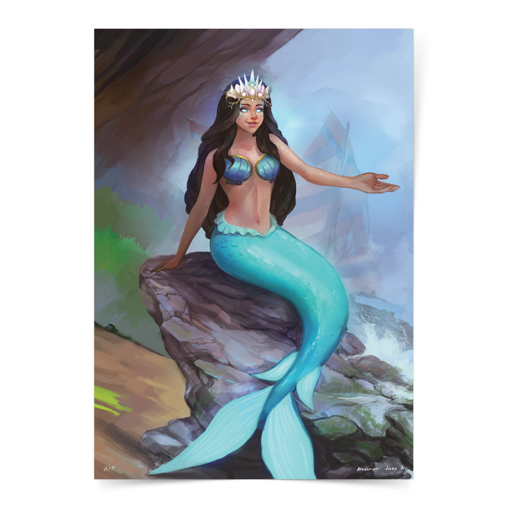 Philippine mythology mythical creature supernatural pinoy legend art fantasy myth spirit collectible mail postcrossing sea underwater aquatic mermaid Bicol Visayas Engkanto Bantay Tubig Magindara