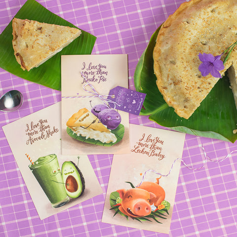 Pinoy food art postcard avocado buko pie lechon baboy postcrossing   Philippine