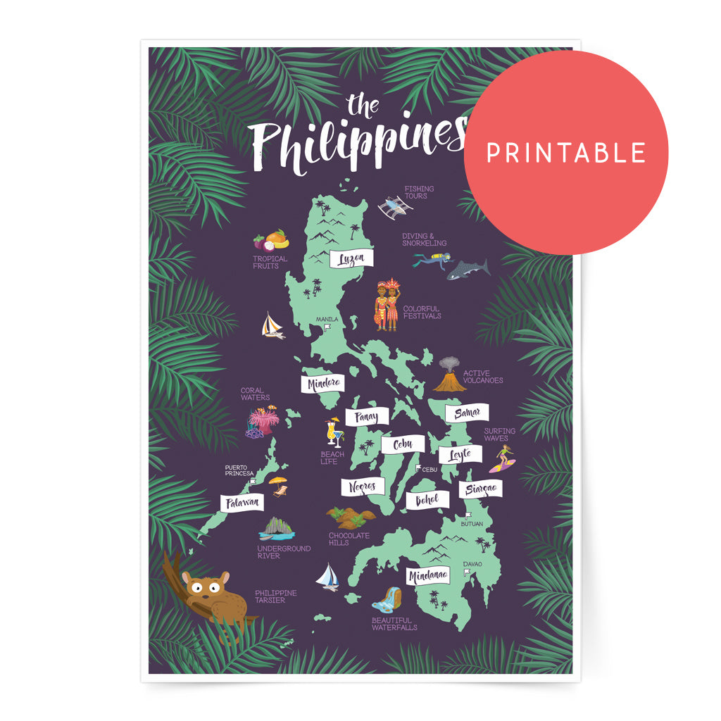 pinoy art wall decor digital download poster tourist travel gift