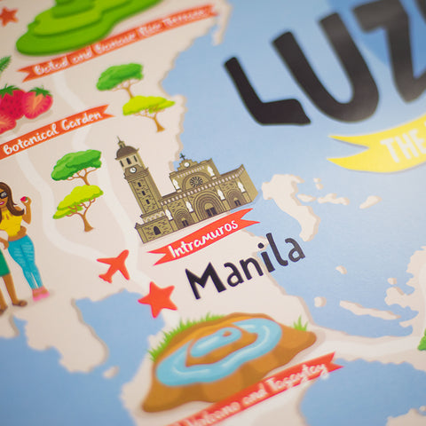 «Luzon Illustrated Map» Poster  Philippine