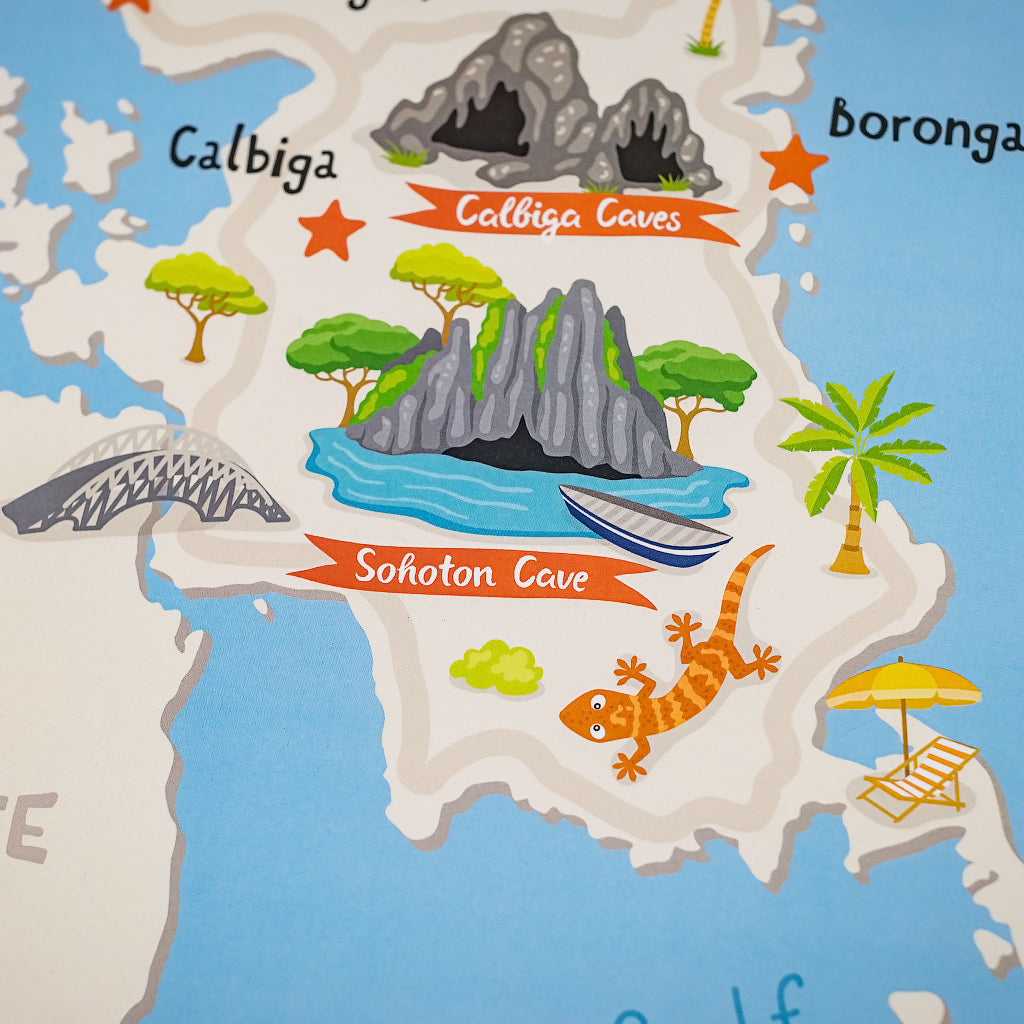 Buy Samar Illustrated Map Poster In Online Shop Philippine