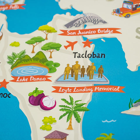«Leyte Illustrated Map» Poster  Philippine