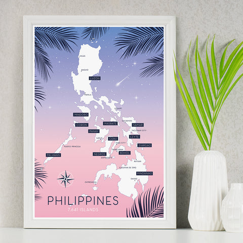 art travel poster island map philippines  Philippine