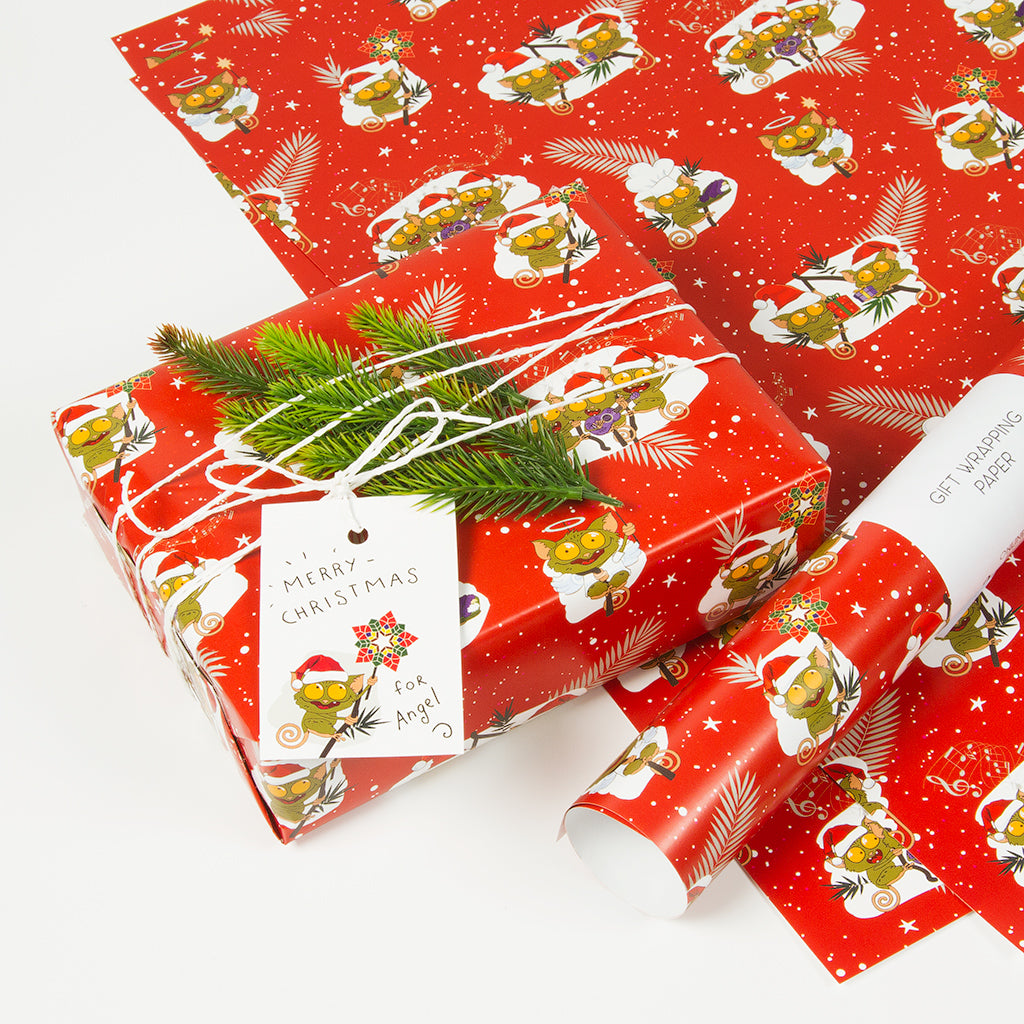 Christmas Tarsiers Gift Wrapping Paper