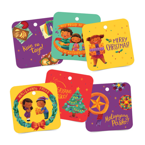 «Maligayang Pasko» Gift tags set of 6 Philippine