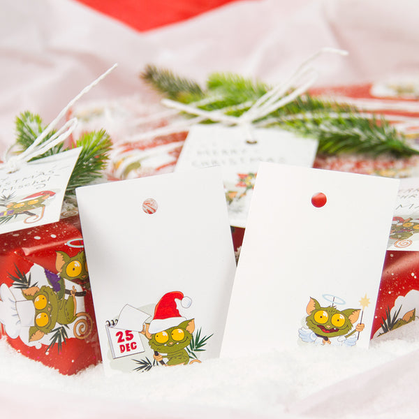 «Christmas Tarsiers» Gift tags set of 6  Philippines gift