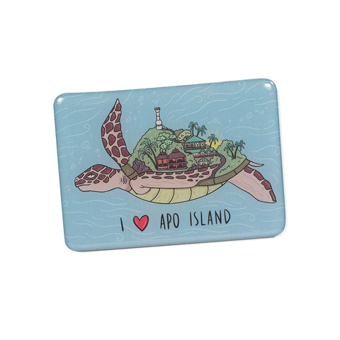«I Love Apo Island» Fridge Magnet Philippine