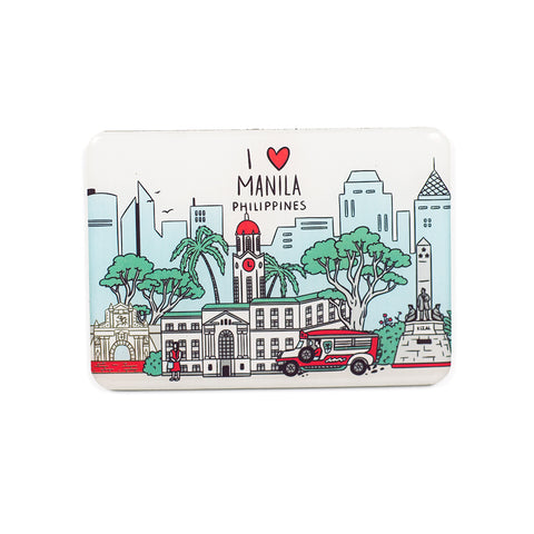 «I Love Manila» Epoxy Fridge Magnet Philippine
