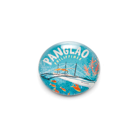 «Destinations: Panglao» Glass Magnet Philippine