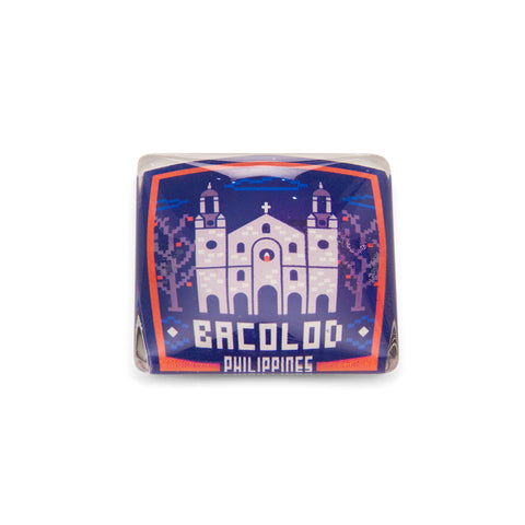«Bacolod Patterns» Glass Magnet Philippine