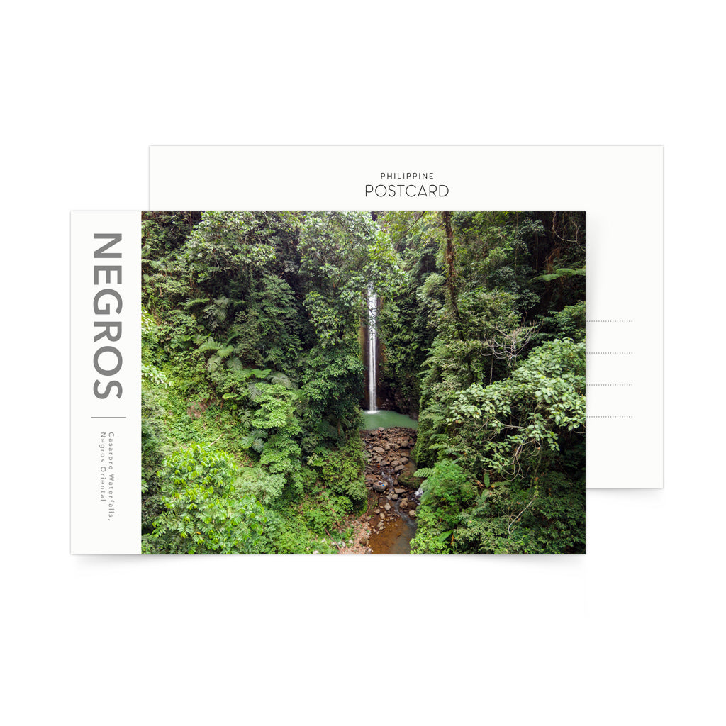aerial photo postcard negros island casaroro waterfalls philippines