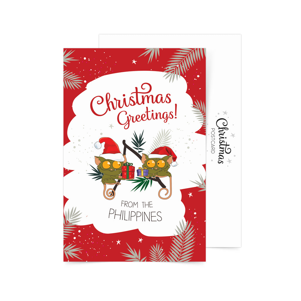 «Christmas Greetings» Postcard Philippines gift