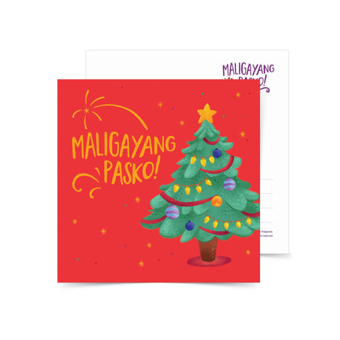 «Maligayang Pasko Christmas Tree» Postcard  Philippine
