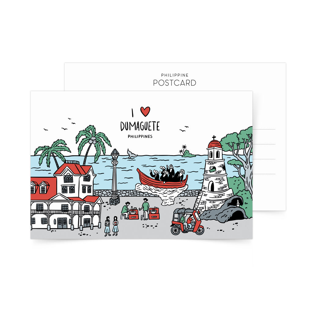 «I Love Dumaguete» Postcard Philippines gift
