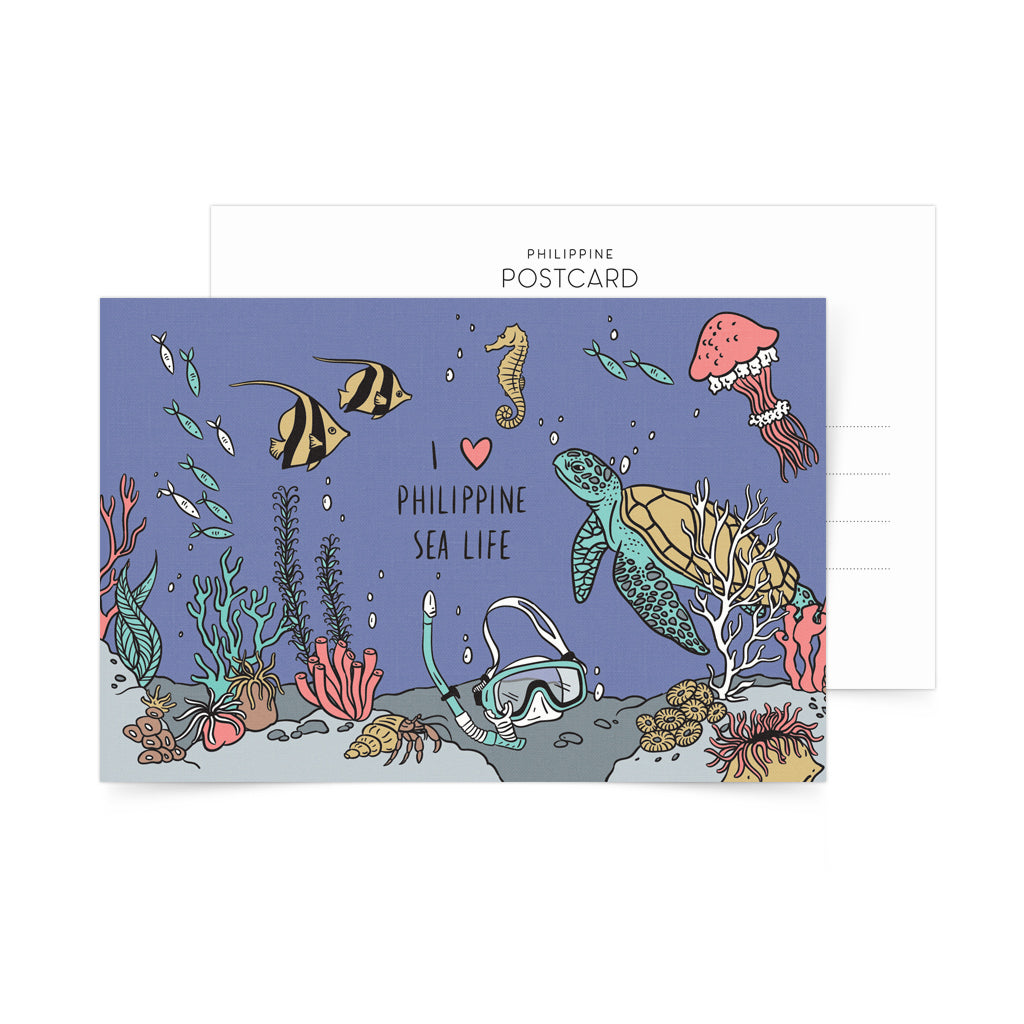 I Love Philippine Sea Life Postcard