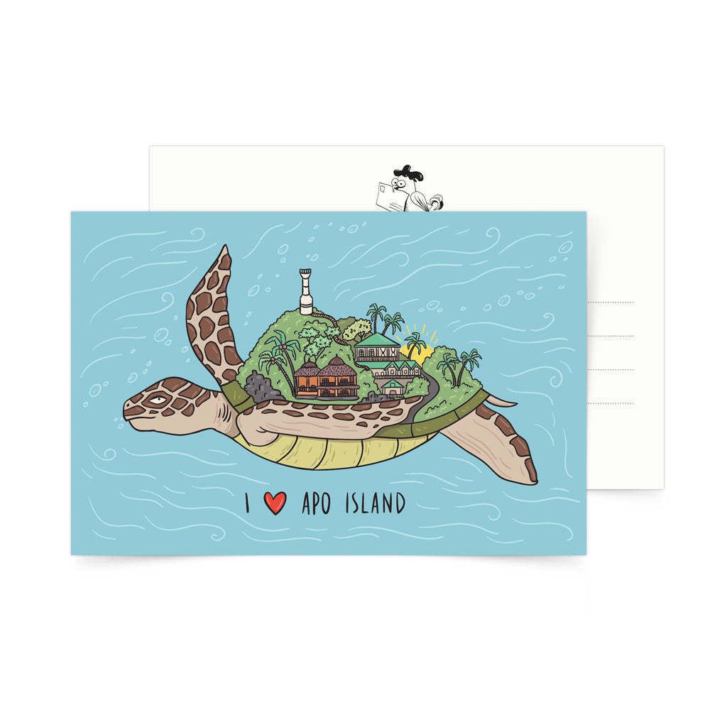 green sea turtle, illustration, art, negros oriental, souvenir, snailmail, pinoy