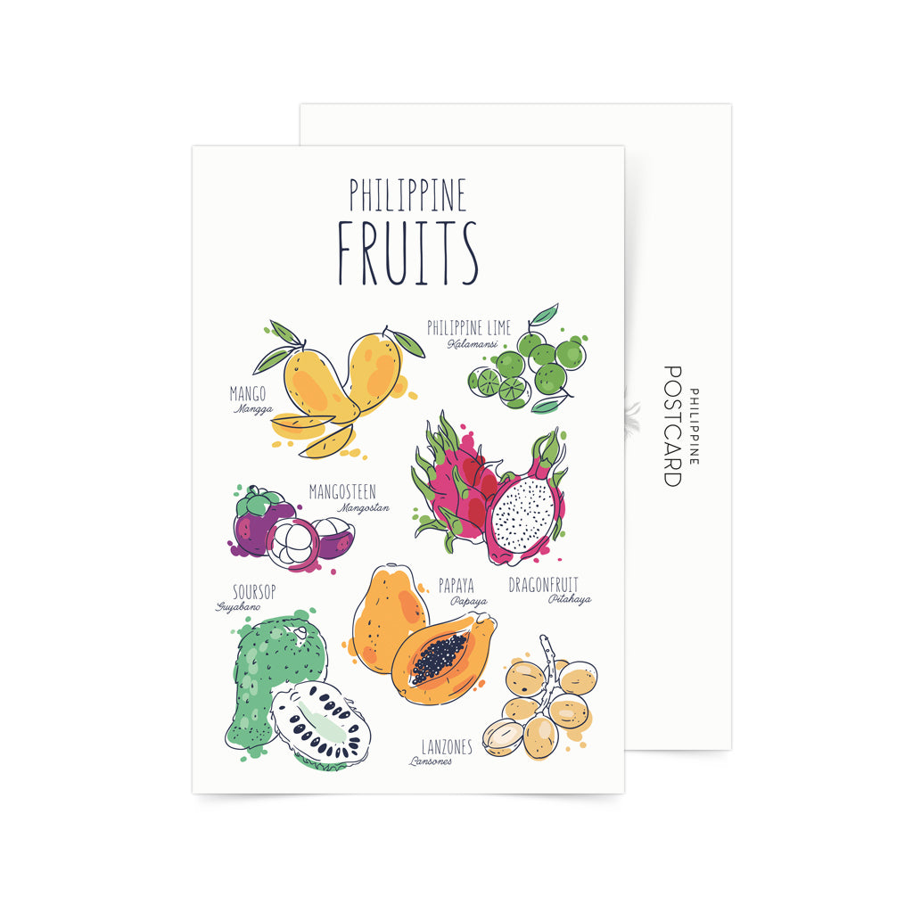 «Philippine fruits» Postcard Philippines gift