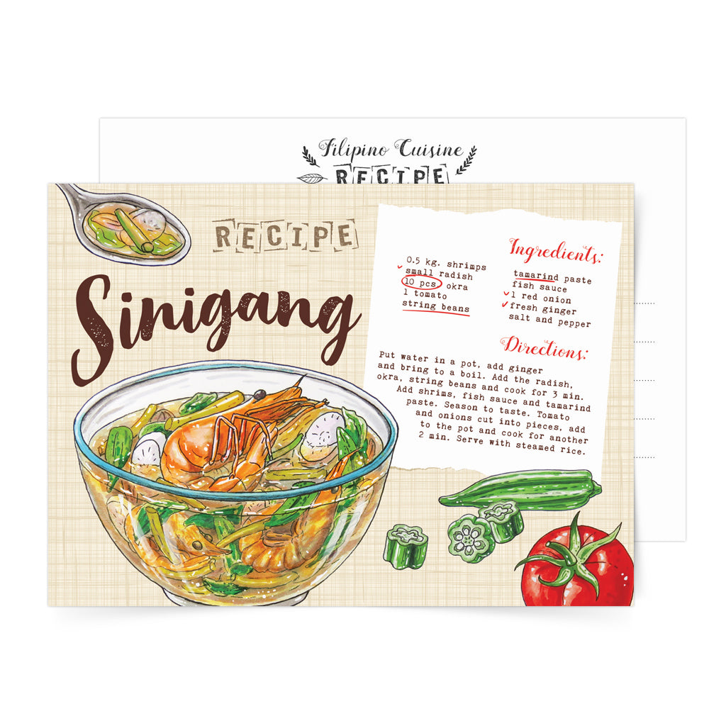filipino local decor food card art pinoy famous pasalubong soup delicacy Philippines gift