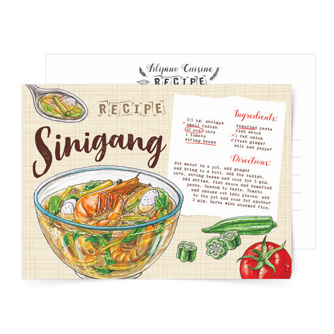 filipino local decor food card art pinoy famous pasalubong soup delicacy Philippine