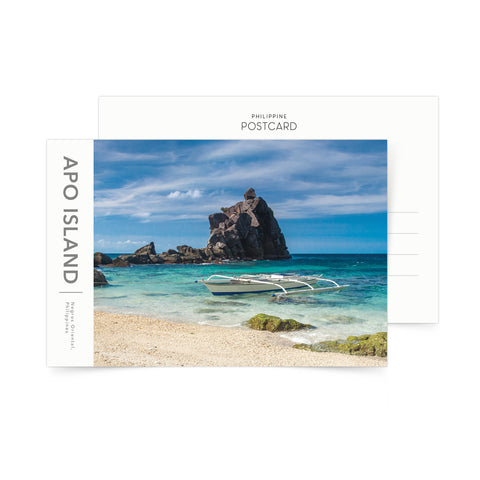 Apo Island Rock Formation Postcard Philippine