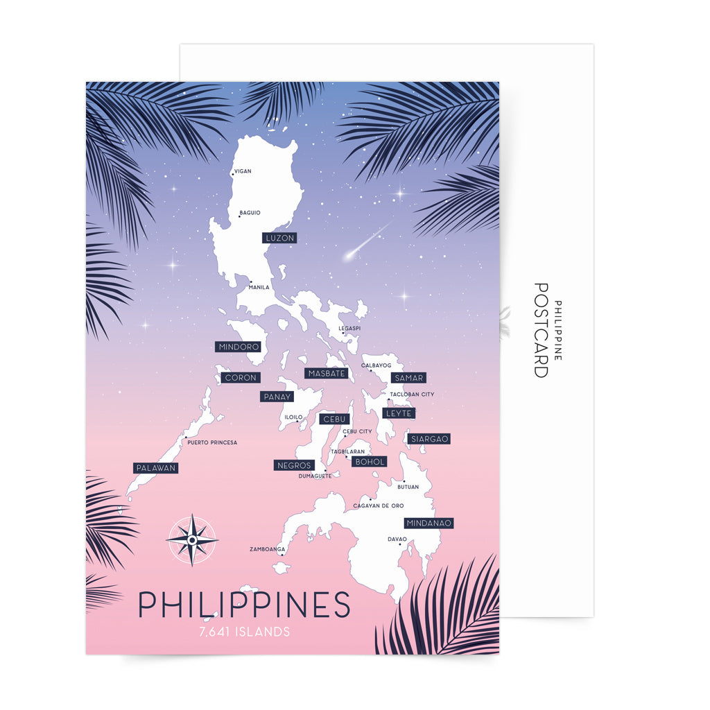 «Philippine Islands Dreams» Big Postcard Philippines gift