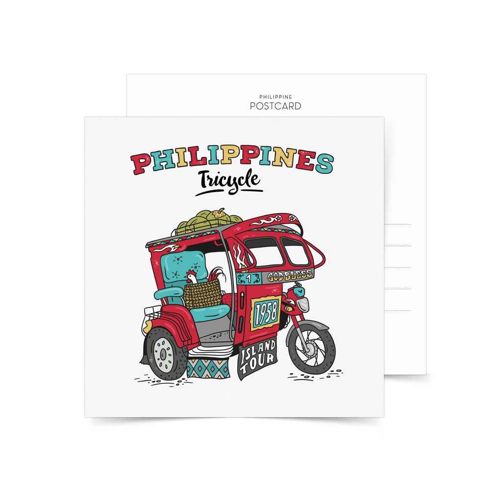«Philippine Tricycle» Postcard Philippines gift
