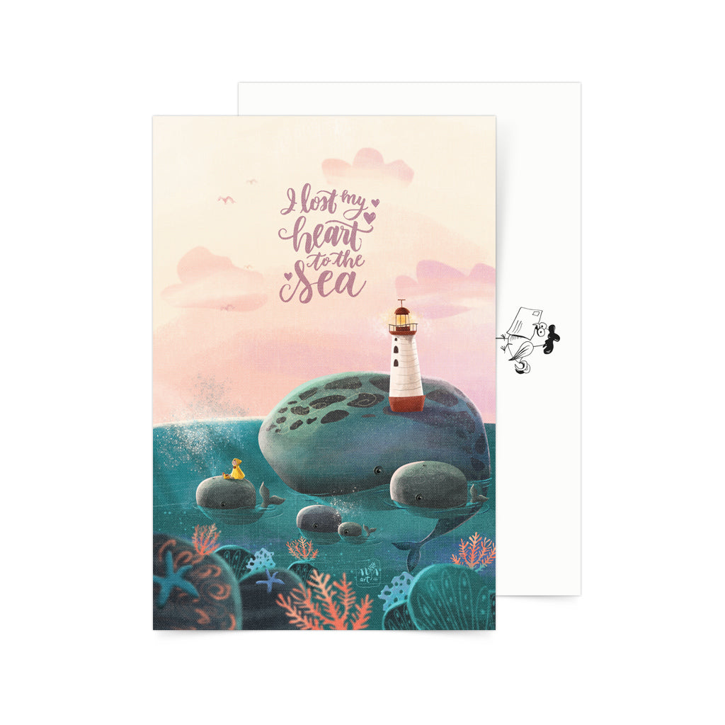 «I Lost my Heart to the Sea» Postcard Philippines gift