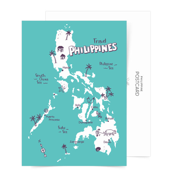 «Travel Philippines» Sticker sheets set of 5 + Free postcard!  Philippines gift