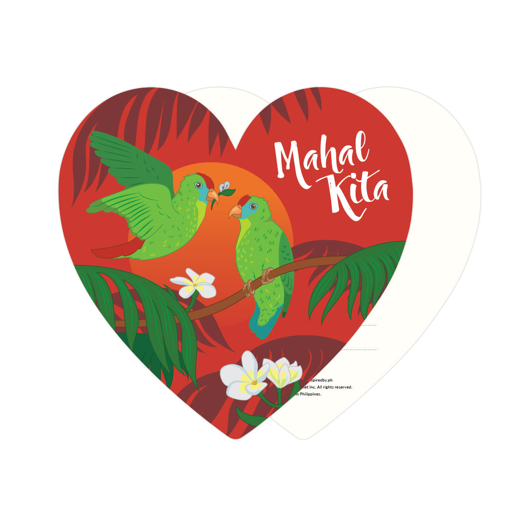 card, i love you, valentines, gift, heart, love, parrot, philippine, local, pinoy, sunset Philippines gift
