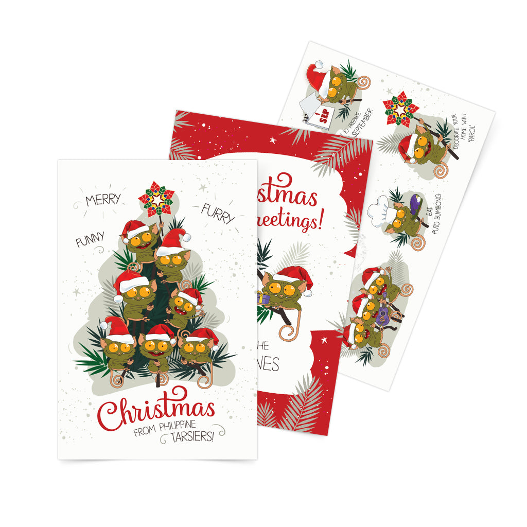 «Christmas Greetings from Philippines» Postcard Set of 3 Philippines gift