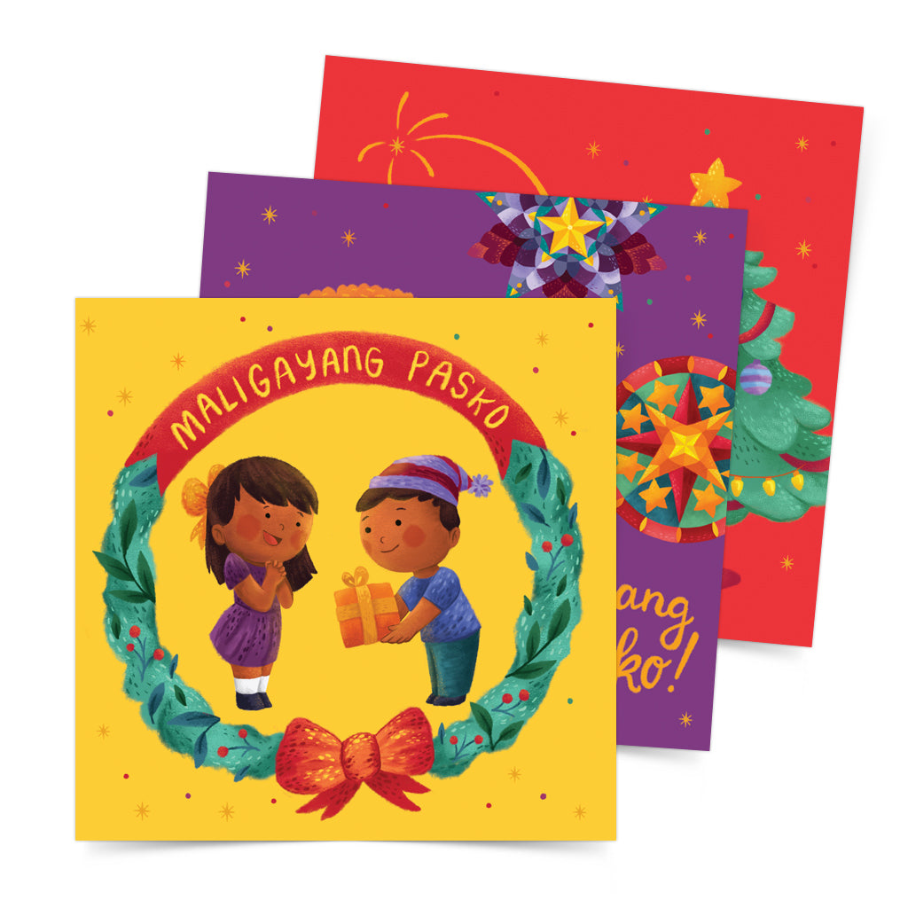«Maligayang Pasko» Postcard Set of 3 Philippines gift