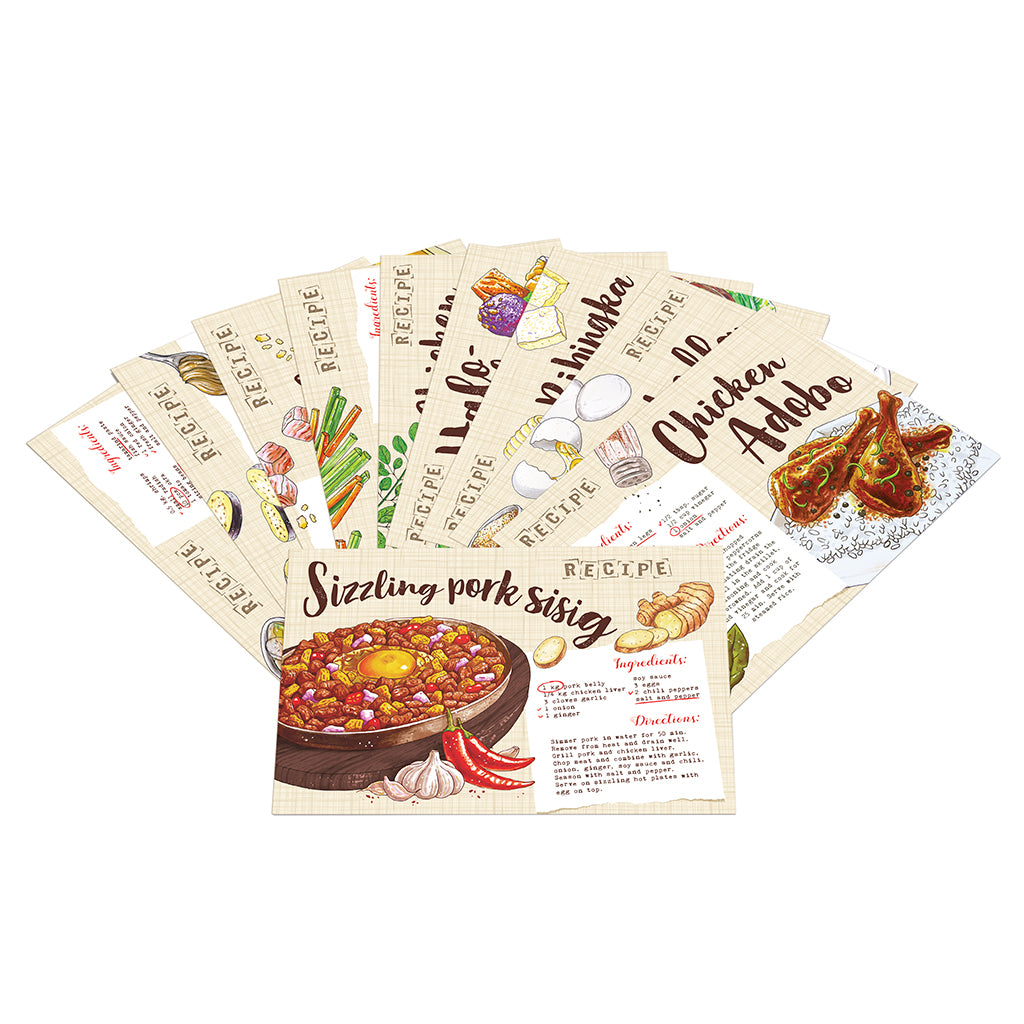 filipino local food card art pinoy famous pasalubong flavor kitchen decor artprint